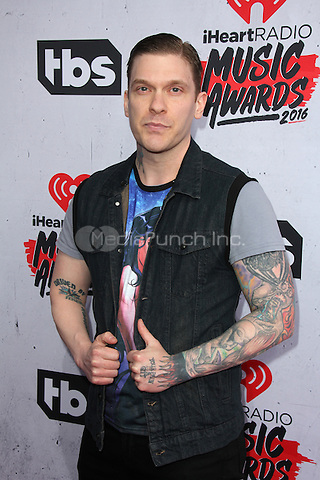 INGLEWOOD, CA - APRIL 3: Brent Smith at the iHeartRadio Music Awards at The Forum on April 3, 2016 in Inglewood, California. Credit: David Edwards/MediaPunch