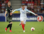 England's Alfie Mawson tussles with Germany's Maximilian Arnold during the UEFA Under 21 Semi Final at the Stadion Miejski Tychy in Tychy. Picture date 27th June 2017. Picture credit should read: David Klein/Sportimage