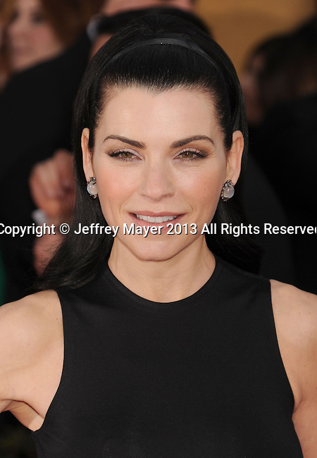 LOS ANGELES, CA - JANUARY 27: Julianna Margulies arrives at the 19th Annual Screen Actors Guild Awards at the Shrine Auditorium on January 27, 2013 in Los Angeles, California.