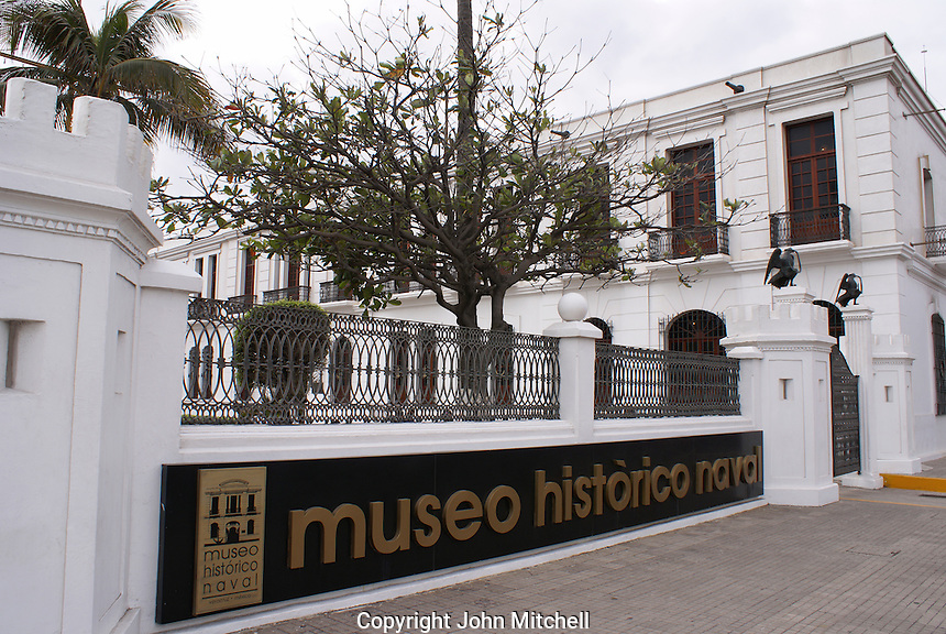 The Museo Historico Naval or Naval History Museum, city of Veracruz, Mexico