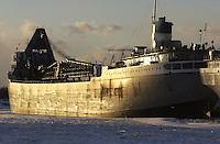 The Saginaw of the Lower Lakes Towing/Grand River Navigation Great Lakes fleet berth at Cargill Grain Elevators, Sarnia Harbour for winter repairs.
