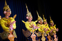 June 6th, 2008_Phnom Penh, Cambodia_ Dance troop members from the National School of Fine Arts, performe the newly revived work of Preah Anruch Preah Neang Ossa.  It has been some 50 years, since this classical Khmer dance piece was performed publicly and is being produced by the Amrita Performing Arts Association.   Photographer: Daniel J. Groshong/Tayo Photo Group