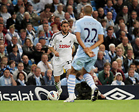 Pictured: Angle Rangell of Swansea City in action <br /> Re: Manchester City v Swansea City Football Club, Manchester. Monday 15 August 2011