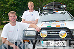 MONGOLIA: Peter West, Killorglin and Alex Hodgkiss, Castlemaine who are heading on a 10,000 mile rally to Mongolia to raise money for charity, pictured with their 1-litre Toyota Starlet on Friday.   Copyright Kerry's Eye 2008