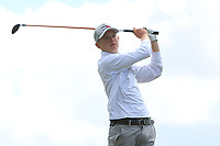 Keaton Morrison (Greenacres) on the 10th tee during the Final round in the Connacht U16 Boys Open 2018 at the Gort Golf Club, Gort, Galway, Ireland on Wednesday 8th August 2018.<br />