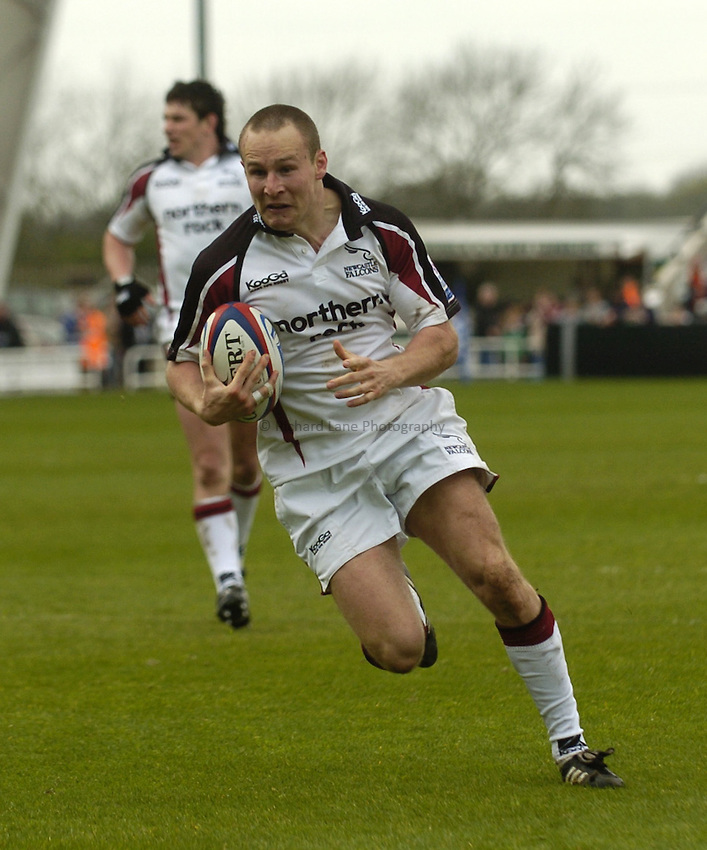 Photo. Jed Wee..Newcastle Falcons v London Irish, Zurich Premiership, 30/04/2005..Newcastle's Hall Charlton.