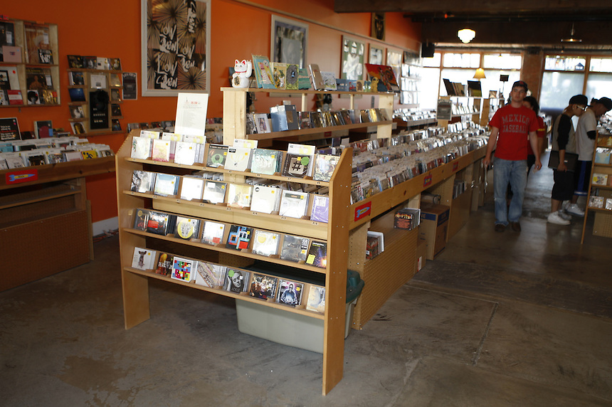 SEATTLE WA Sonic Boom Records will be closing the Capitol Hill location shown here June 13, 2011, according to owner Jason Hughes.  Photo by Kevin  P. Casey, Freelance. Records on the shelves