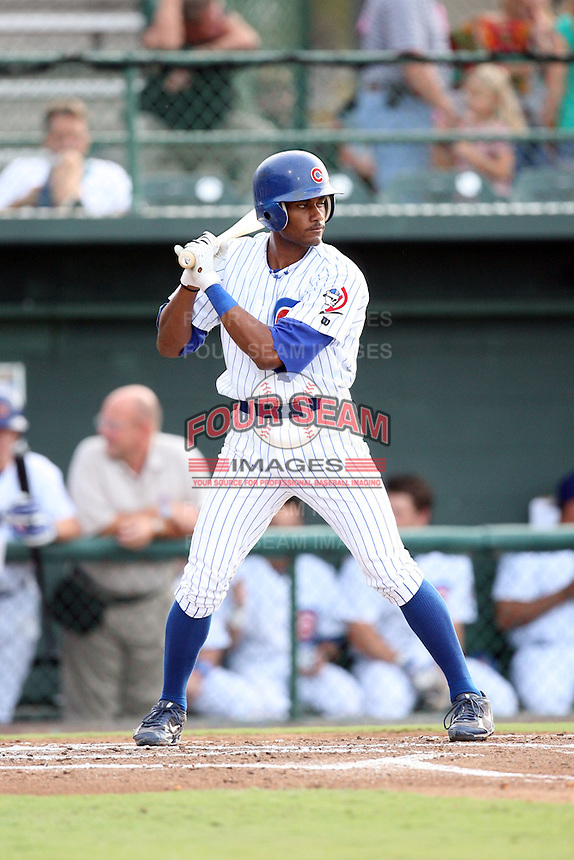 August 15, 2008: Tony Thomas (3) of the Daytona Cubs at Jackie Robinson Ballpark in Daytons, FL. Photo by: Chris Proctor/Four Seam Images