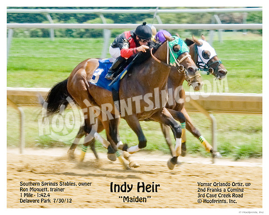Indy Heir winning at Delaware Park on 7/30/12