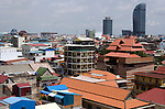 Phnom Penh skyline with the Vattanac Capital Tower building