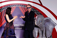 Tim Burton and singer Elisa who sang the soundtrack<br /> Rome March 26th 2019. Premiere of the movie 'Dumbo' directed by Tim Burton<br /> photo di Samantha Zucchi/Insidefoto