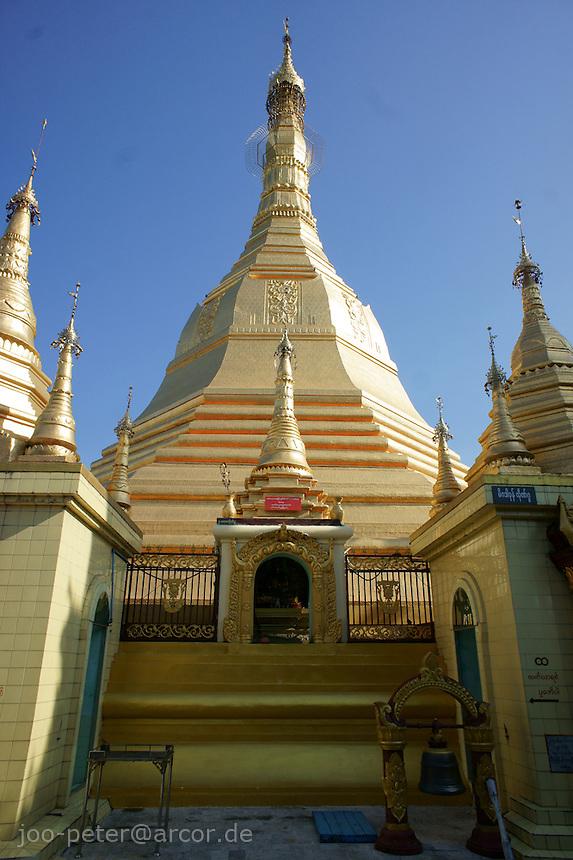 major Stupa of Sula Paya pagoda complex, Yangon, Myanmar, 2011