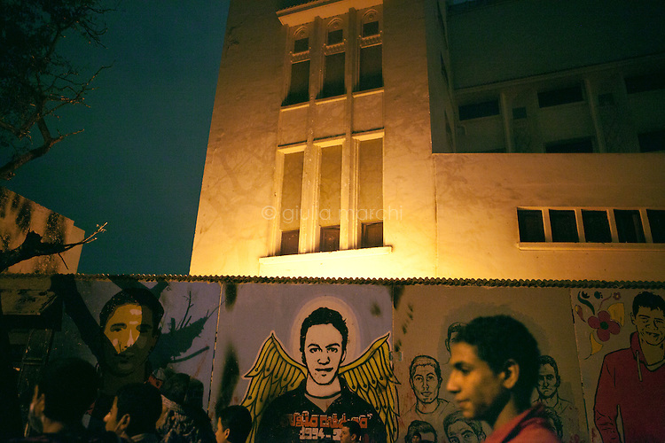 EGYPT / Cairo / 24.11.2012 / Young protesters gather in Mohamed Mahmoud Street<br /> <br /> © Giulia Marchi