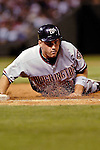 8 September 2006: Ryan Zimmerman, third baseman for the Washington Nationals, in action against the Colorado Rockies. The Rockies defeated the Nationals 11-8 at Coors Field in Denver, Colorado...Mandatory Photo Credit: Ed Wolfstein.