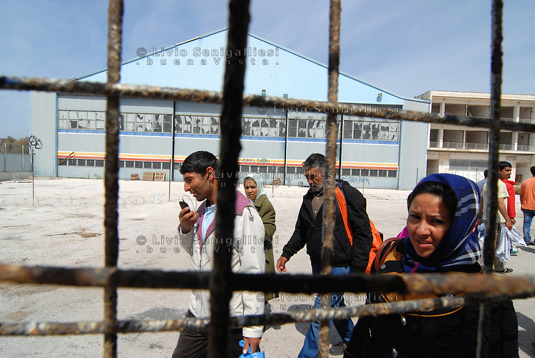 """Athens / Greece 01/04/2016<br /> Refugee camp for afghani people run by greek government in Athens suburb area of the former airport known as """"West Hellenico"""".<br /> Photo Livio Senigalliesi"""