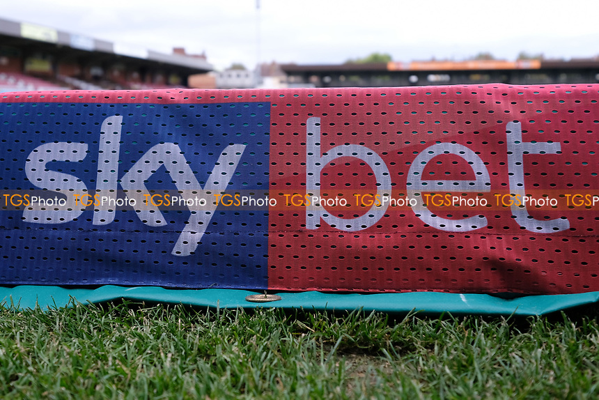 Sky bet sign ahead of AFC Wimbledon vs Bradford City, Sky Bet EFL League 1 Football at the Cherry Red Records Stadium on 2nd October 2018