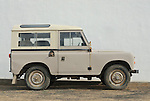 Spain, Canary Islands, Archipielago Chinijo, Isla Graciosa, Caleta del Sebo. Land Rover Santana 88 4-cyl Station Wagon. --- No releases available. Automotive trademarks are the property of the trademark holder, authorization may be needed for some uses.