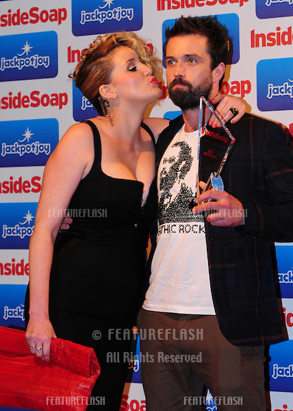 Bronagh Waugh and Emmett Scanlan arriving for the Inside Soap Awards 2011 at Gilgamesh, Camden, London. 26/09/2011 Picture by: Simon Burchell /  Featureflash