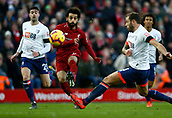 9th February 2019, Anfield, Liverpool, England; EPL Premier League football, Liverpool versus AFC Bournemouth; Mohamed Salah of Liverpool shoots as Steve Cook of Bournemouth challenges