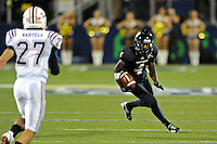 12 November 2011:  FIU wide receiver T.Y. Hilton (4) carries after a reception in the third quarter as the FIU Golden Panthers defeated the Florida Atlantic University Owls, 41-7, to win the annual Shula Bowl game, at FIU Stadium in Miami, Florida.