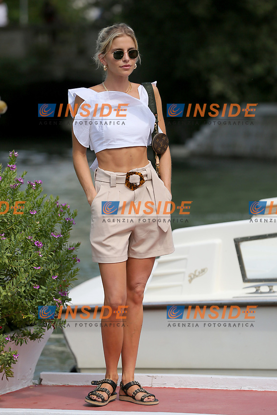 VENICE, ITALY - AUGUST 31:  Caroline Daur arrives in Darsena Excelsior during the 76th Venice Film Festival  on August 31, 2019 in Venice, Italy. (Photo by Marck Cape/Inside Foto)<br /> Venezia 31/08/2019