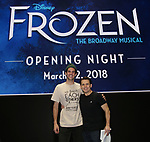 John Riddle and Robert Creighton attends the Broadway Opening Night After Party for 'Frozen' at Terminal 5 on March 22, 2018 in New York City.