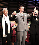 "Burt Bacharach, Sean Hayes, Hal David.taking a bow on the  Opening Night Broadway performance Curtain Call for ""PROMISES, PROMISES"" at the Broadway Theatre, New York City..April 25, 2010.© Walter McBride / Retna Ltd."