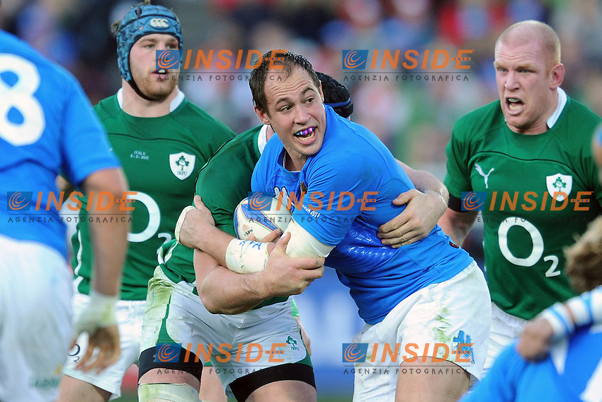 Parisse (Italia)<br /> Italia vs Irlanda<br /> Six Nations Rugby<br /> Stadio Flaminio, Roma, 05/02/2011<br /> Photo Antonietta Baldassarre Insidefoto