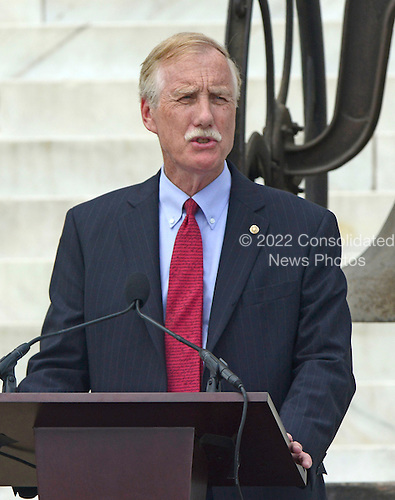 United States Senator Angus King (Independent of  Maine) makes remarks at the Let Freedom Ring ceremony on the steps of the Lincoln Memorial to commemorate the 50th Anniversary of the March on Washington for Jobs and Freedom<br /> Credit: Ron Sachs / CNP