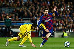 27th November 2019; Camp Nou, Barcelona, Catalonia, Spain; UEFA Champions League Football, Barcelona versus Borussia Dortmund; picture show Leo Messi scape from defensors