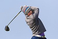 Marc Nolan (Dun Laoghaire) on the 1st tee during Round 3 of The West of Ireland Open Championship in Co. Sligo Golf Club, Rosses Point, Sligo on Saturday 6th April 2019.<br /> Picture:  Thos Caffrey / www.golffile.ie
