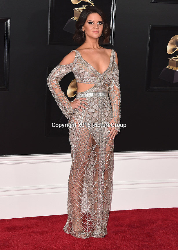 NEW YORK - JANUARY 28:  Maren Morris at the 60th Annual Grammy Awards at Madison Square Garden on January 28, 2018 in New York City. (Photo by Scott Kirkland/PictureGroup)