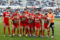 07.04.2012 SPAIN -  La Liga matchday 32th  match played between Getafe vs Sporting at Coliseum Alfonso Perez stadium (2-0). Picture show Real Sporting de Gijon Team Group Liune-up