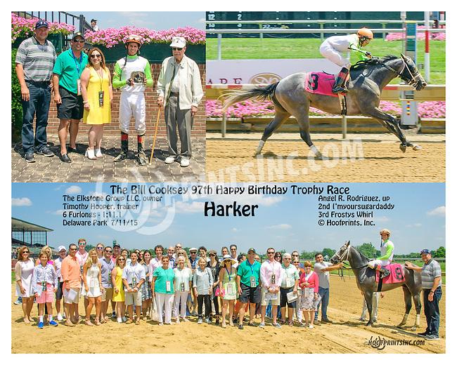 Harker winning at Delaware Park on 7/11/15