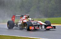 SPA FRANCORCHAMPS, BELGICA, 31 AGOSTO 2012  - F1 - GP DA BELGICA - O piloto Pedro de La Rosa da equipe HRT  durante segundo dia de treinos livres para o GP da Belgica que acontece no proximo domingo. (FOTO: PIXATHLON / BRAZIL PHOTO PRESS).