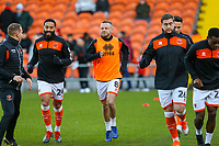 Blackpool players warm up before the match<br /> <br /> Photographer Alex Dodd/CameraSport<br /> <br /> The EFL Sky Bet League One - Blackpool v Sunderland - Tuesday 1st January 2019 - Bloomfield Road - Blackpool<br /> <br /> World Copyright © 2019 CameraSport. All rights reserved. 43 Linden Ave. Countesthorpe. Leicester. England. LE8 5PG - Tel: +44 (0) 116 277 4147 - admin@camerasport.com - www.camerasport.com