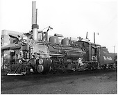 D&amp;RGW #476 K-28 in Durango.<br /> D&amp;RGW  Durango, CO  Taken by Payne, Andy M. - 9/23/1970