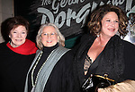 Polly Bergen, Barbara Cook and Lainie Kazan.attending the Opening Night Performance of 'The Gershwins' Porgy & Bess' at the Richard Rodgers Theatre in New York City. 1/12/2012