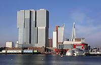 Rotterdam -Rijnhaven. Hoogbouw op de Wilhelminapier