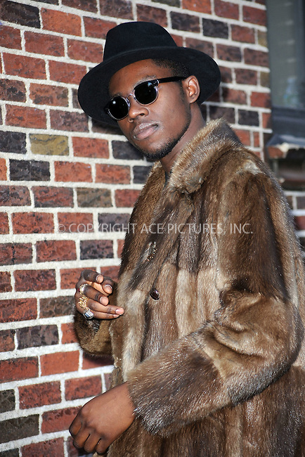 WWW.ACEPIXS.COM . . . . . ....February 14 2011, New York City....Rapper Theophilus London made an appearance at the 'Late Show with David Letterman' on February 14 2011 in New York City....Please byline: KRISTIN CALLAHAN - ACEPIXS.COM.. . . . . . ..Ace Pictures, Inc:  ..(212) 243-8787 or (646) 679 0430..e-mail: picturedesk@acepixs.com..web: http://www.acepixs.com