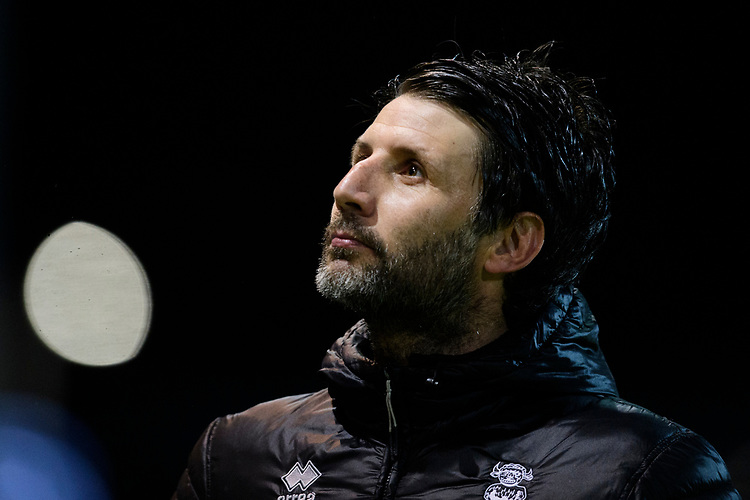 Lincoln City manager Danny Cowley<br /> <br /> Photographer Chris Vaughan/CameraSport<br /> <br /> The EFL Sky Bet League Two - Mansfield Town v Lincoln City - Monday 18th March 2019 - Field Mill - Mansfield<br /> <br /> World Copyright © 2019 CameraSport. All rights reserved. 43 Linden Ave. Countesthorpe. Leicester. England. LE8 5PG - Tel: +44 (0) 116 277 4147 - admin@camerasport.com - www.camerasport.com