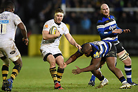 Thomas Young of Wasps in possession. Aviva Premiership match, between Bath Rugby and Wasps on December 29, 2017 at the Recreation Ground in Bath, England. Photo by: Patrick Khachfe / Onside Images