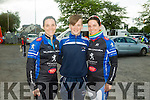 l-r  Marita Harnett, Eoin Herlihy and Leanne Riordan at the  St Kieran's GAA cycle from the Castleisland Desmonds Pitch on Sunday