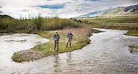 Anglers fish Blacktail Deer Creek near Dillon, Montana.
