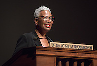 The Occidental College Core Program and History Department present a CSP Lecture series distinguished speaker Nell Irvin Painter, a prolific and award-winning scholar, as part of Oxy's Emancipation Initiative, Nov. 10, 2014 in Thorne Hall. (Photo by Marc Campos, Occidental College Photographer)
