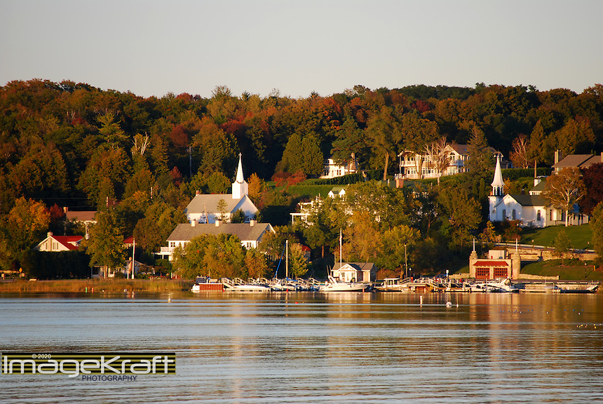 Ephraim, Wisconsin, harbor and skyline