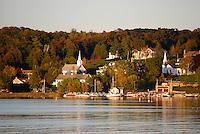 Ephraim, Wisconsin, harbor and skyline