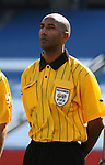 Referee Neil Brizan, of Trinidad and Tobago, on Saturday, June 16th, 2007 at Gillette Stadium in Foxboro, Massachusetts. The United States Men's National Team defeated Panama 2-1 in a 2007 CONCACAF Gold Cup quarterfinal game.