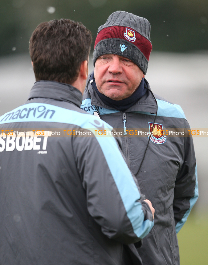 West Ham manager Sam Allardyce - West Ham United training session with special Bobby Moore shirts - 22/02/13 - MANDATORY CREDIT: Rob Newell/TGSPHOTO - Self billing applies where appropriate - 0845 094 6026 - contact@tgsphoto.co.uk - NO UNPAID USE.