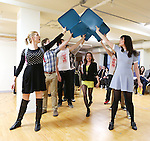 Elle McLemore and cast performing at the Open Press Rehearsal for 'Heathers The Musical' on February 19, 2014 at The Snapple Theatre Center in New York City.